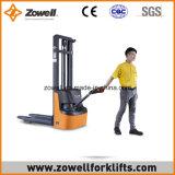 Apilador eléctrico de la nueva venta caliente con 1.2 altura de elevación de la capacidad de carga de la tonelada 2.5m