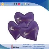 Peso di carta di cuoio su ordinazione all'ingrosso a forma di di Promotionla del cuore (4774R12)