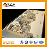 Manufatura do modelo da unidade/modelo do apartamento/modelo do edifício do modelo/projeto edifício de apartamento/modelo fino da família
