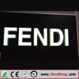 Знаки письма канала плакировкой напольный рекламировать оптовой цены акриловые освещенные контржурным светом СИД