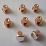 Pontas de prata do contato do rebite da liga de cobre usadas em relés do agregado familiar