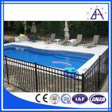 Cerca de la capa del polvo piscina con los blancos o de color Negro