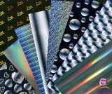 Film métallisé stratifié olographe