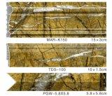 Het Profiel van de muur voor Folie van de Kleur van TV Frm de Oppervlakte Verpakte S123 Marmeren