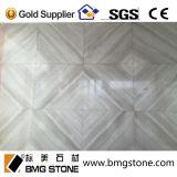 Médaillons Waterjet de marbre en bois gris chinois pour la décoration de mur et d'étage