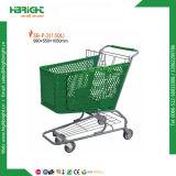 Carro plástico do trole da compra do supermercado com Volum grande