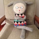 Brinquedo Handmade do bebê da tela da camisola do Knit da fonte da fábrica