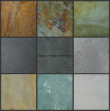 China-preiswerteste rostige Steinschiefer-Fußboden-Fliesen für die Pflasterung