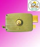縁ロック、黄銅(ラッチ、死ボルト、ハンドル)、高い安全性、安いロック
