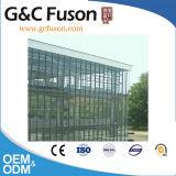 Mur rideau en verre en aluminium avec la glace isolée Inférieure-e