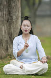 Capas de bambú del cáñamo del collar oblicuo Long-Sleeved de alto grado de la ji de Wudang Tai