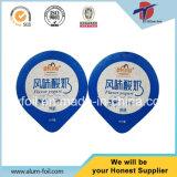 Pp.-oder PS-Joghurt-Cup-Verbrauch-Aluminiumfolie-Kappe mit schneller Anlieferung