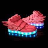 Kids LED Light Up Sneaker Athletic Wings Shoes (Little Kid, Blue)