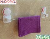 A prateleira de toalha do banheiro da cremalheira de toalha do aço inoxidável com o copo da sução do ar absorve
