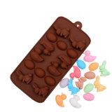 Bandeja del molde del chocolate del caramelo del silicón del huevo del pato del conejo