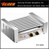 Form-haltbare Wurst-Maschine, 9 Rollen-elektrischer schräg liegender Hotdog-Grill, CER genehmigt (WY-009B)