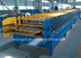 Verkaufs-trapezoide waagerecht ausgerichtete Wand-Dach-Doppelrolle, die Maschine bildet