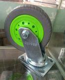 Elastischer grauer Gummihochleistungsreifen-spinnende Fußrolle