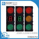 Verde giallo rosso-chiaro del segnale stradale del LED e 1 conto alla rovescia 300mm di Digitahi 12 pollici