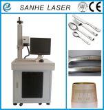 máquina da marcação do laser da fibra do metal de 20W 30W para o anel, o Plastis, o PVC, o metal e o metalóide