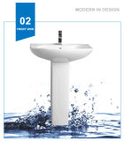 Bassin en céramique de lavage de lavabo sur pied de lavage de Weidansi (WDS-P7206)