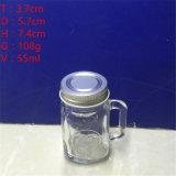2ozはハンドルが付いている小型ガラス石大工の蜂蜜の瓶を空ける