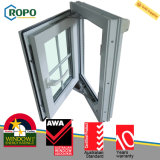 UPVCのプラスチック鋼鉄フランスの開き窓の窓の格子デザイン