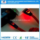 Micro cavo del USB del LED con il disegno Smiley chiaro del LED