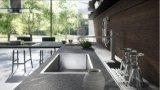 安い現代台所木の食器棚の白のキャビネット