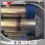 Bons embouts filetés galvanisés plongés chauds de pipes en acier de la qualité ASTM A53