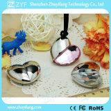 Silver Heart Pendant Shape Acrílico Jóias USB Pen Drive (ZYF1907)