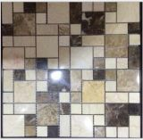Material de Construcción de lujo del estilo de piedra natural de mármol del mosaico del azulejo (FYSM090)