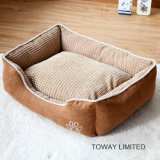 Coral Fleece Dog Matts Anti Skid Flocked Pet Square Beds