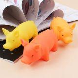 Juguete chillón del perro encantador del cerdo del juguete del vinilo del animal doméstico (KB1044)