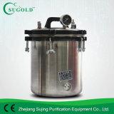 12L steenkool & de Elektrische Draagbare Sterilisator van de Stoom van de Druk van het Type Roestvrije