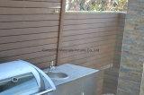 Frontière de sécurité antidérapante extérieure grise du composé 88 en plastique en bois solide