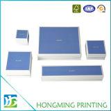 Оптовая штейновая белая коробка подарка ювелирных изделий картона