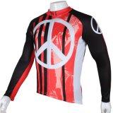 Черная и красная холодная куртка спортов способа покрывает втулка Breathable быстро сухой задействуя Джерси людей длинняя