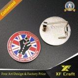 La alta calidad modificó la divisa plateada oro del Pin para requisitos particulares del esmalte con el corchete de la mariposa (XF-BG02)