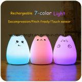 7 색깔 룸 장식 실리콘 접촉 센서 밤 빛