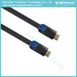 二重カラー金属のシェルが付いている男性HDMIケーブルへの高速平らな男性