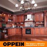 Palacio L armario de madera de la cocina de la cereza de la dimensión de una variable (OP12-L010) de Oppein