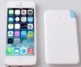 Type de carte ultra-mince côté portatif de pouvoir de cadeaux faits sur commande de chargeur de téléphone