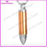 Edelstahl-Gewehrkugel-Verbrennung-Urne-hängende Halskette für Aschen-Andenken-Halter