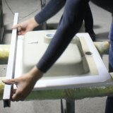 Bacia cerâmica do gabinete do dissipador do gabinete (NALA-75)