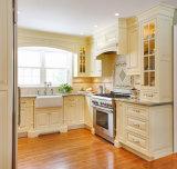 De Houten Keukenkast van de Vorm van L van de Stijl van Amerika