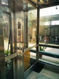 Maison commerciale de capsule en verre en dehors d'ascenseur résidentiel