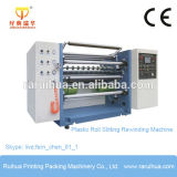 Máquina de rebobinamento de corte de bobina de plástico de película de poliéster