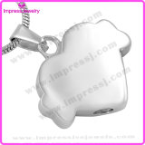Inlay Crystal Bone Heart Memorial Urn Pet Cremation Pendant