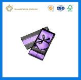 Verpakkende Vakjes van de Gift van het Vakje van de Vlinderdas van het Document van de Luxe van de douane de Zwarte (Met het embleem van de douane)